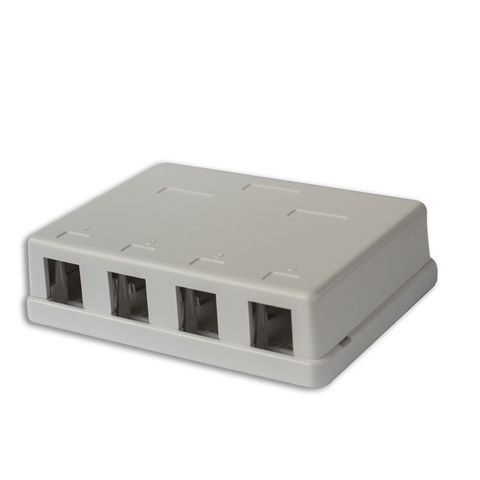 Four Port Unequipped Surface Mount Box