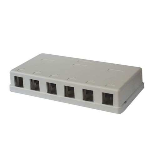 Six Port Unequipped Surface Mount Box