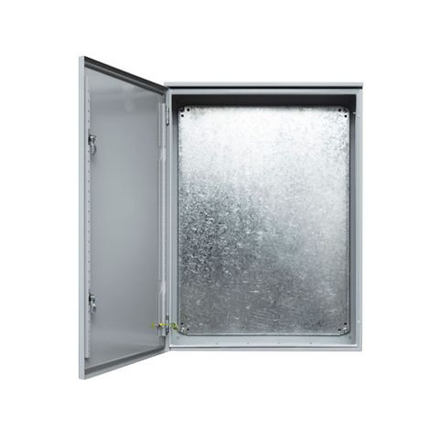 IP66 Enclosure 400 (H) x 400 (W) x 200 (D) Galvanised Steel, Grey