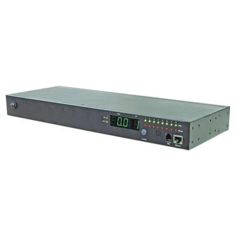 POM & Switched Horizontal PDU (8)C13 Outlet (1)RJ45 (1)RJ11, 16A 230V IEC320 C20 Plug