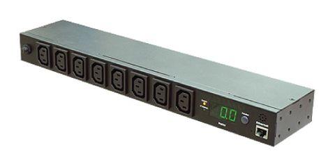 Monitored Horizontal PDU (8)C13 Outlet (1)RJ45, 10A 230V IEC320 C14 Plug