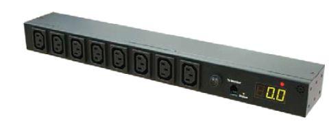 Monitored Horizontal PDU (8)C13 Outlet (1)RJ45, 16A 230V IEC320 C20 Plug