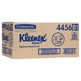 KLEENEX 4456 I/FOLD OPTIMUM WHITE 1 PLY P/TOWEL 120S X 20