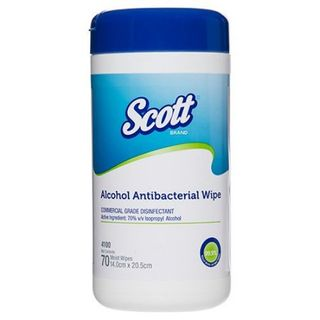 KIMTECH* ALCOHOL ANTIBACTERIAL WIPES 143 X 210MM CANISTER 70S