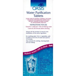 AQUATABS WATER PURIFICATION TABLETS 50S (1 TABLET MAKES 1L)