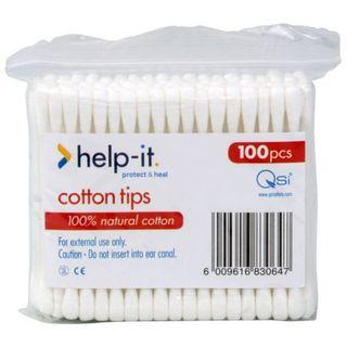 HELP-IT COTTON TIPS 100S
