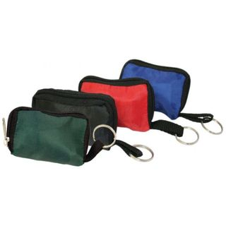 CPR BLACK POUCH KEY RING (C/W CPR MASK & LATEX GLOVE)