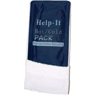 HELP-IT FIRST AID MICROWAVEABLE REUSEABLE HOT/COLD PACK WITH TOWEL