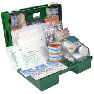 FIRST AID KIT FAK016PB INDUSTRIAL & COMMERICAL 1-25 PERSON IN GREEN PLASTIC WALL