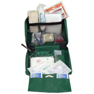 FIRST AID KIT FAK010NIS 'LONE WORKER 1' IN GREEN BAG