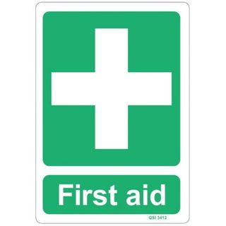 FIRST AID SIGN 240MM X 340MM