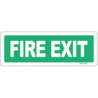 FIRE EXIT SIGN 120MM X 340MM