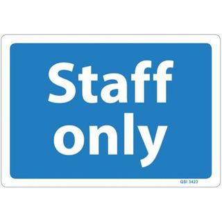 STAFF ONLY SIGN 120MM X 340MM