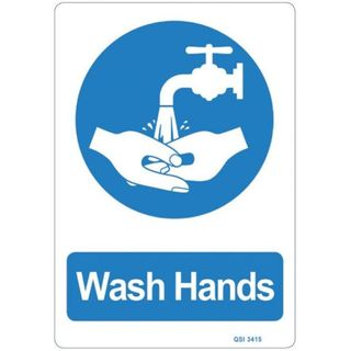 WASH HANDS SIGN 240MM X 340MM
