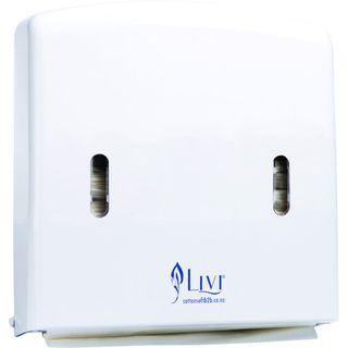 MINI SLIM MULTI FOLD WHITE P/TOWEL DISPENSER FOL - D811 (PT:604(1402)