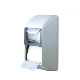 WHITE TWIN VERTICAL T/ROLL DISPENSER FOL - D670 (TP:280 (3051), 400 (3050)