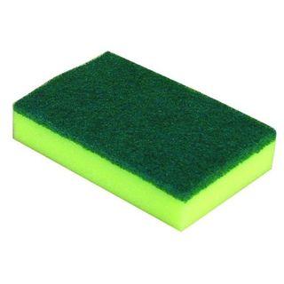SCOURER SPONGE GREEN & YELLOW 15CM X 10CM