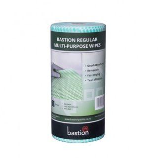 BASTION ROLL REGULAR WIPES GREEN 45M