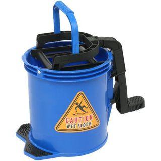 EDCO ENDURO NYLON WRINGER BUCKET ON WHEELS 16L - BLUE