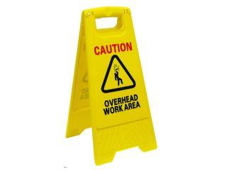A-FRAME FLOOR SAFETY SIGN - OVERHEAD WORK AREA