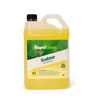 RAPIDCLEAN SUDZEE DISH WASH LIQUID LEMON FRAGRANCE 5L (MPI C32)