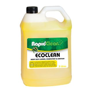RAPIDCLEAN ECOCLEAN CLEANER DISINFECTANT SANITISER 5L