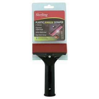 STERLING HDSCR BLACK PLASTIC WINDOW SCRAPER ON DISPLAY CARD 94MM 4'