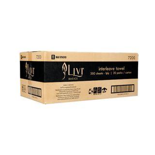 LIVI 7200 BASICS SLIMFOLD WHITE 1 PLY P/TOWEL 200S X 20