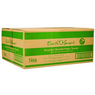 EARTHSMART 7456 RECYCLED SLIMFOLD 1 PLY P/TOWEL 200S X 20