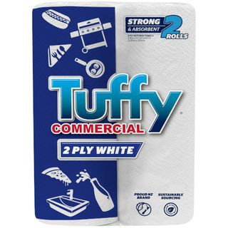 TUFFY COMMERCIAL WHITE 2 PLY KITCHEN P/TOWEL 2S