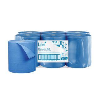 LIVI 2140 ESSENTIALS AUTO ROLL BLUE 2 PLY P/TOWEL 140M