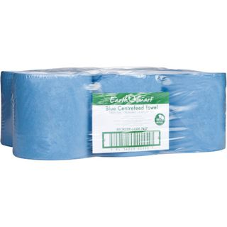 EARTHSMART 7457 RECYCLED C/FEED BLUE 1 PLY P/TOWEL ROLL 330M X 22CM X 6S