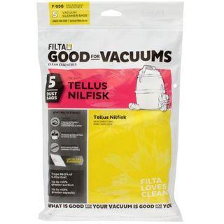 TELLUS GM80 TURBO/GM90 VACUUM PAPER DUST BAGS 5S - F050