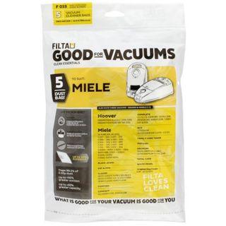 MIELE S230/S247 OR BLACK JEWEL VACUUM PAPER DUST BAGS 5S - F033