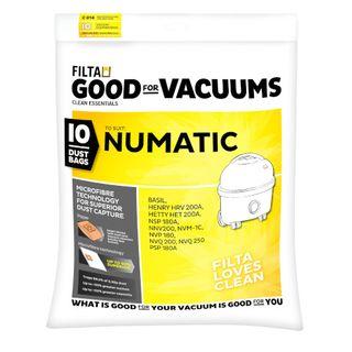 NUMATIC 9L VACUUM BAGS 10S - C014