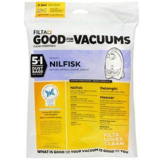 NILFISK SPRINT F044 VACUUM  DUST BAGS 5S