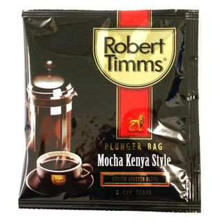 ROBERT TIMMS MOCHA KENYA / ITALIAN ESPRESSO PLUNGER COFFEE BAGS 13G 50S