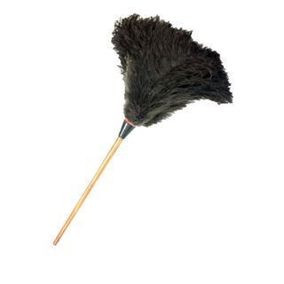 OSTRICH FEATHER DUSTER WITH WOODEN HANDLE 500MM