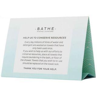 BATHE MARINE ENVIRONMENTAL DISPLAY TENT CARDS 50S - BATHTENT