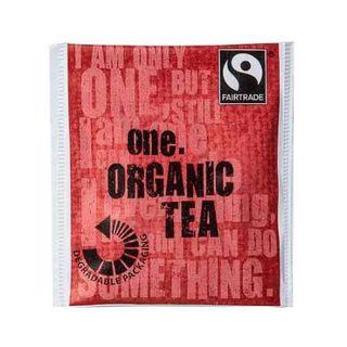ONE 'FAIRTRADE' ENVELOPED ORGANIC TEA BAGS 500S - ONET