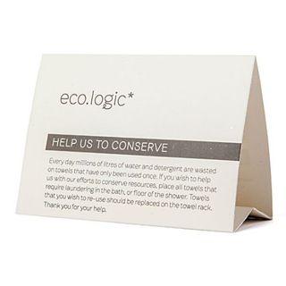 ECO LOGIC TENT CARDS 50S - LOGICTENT