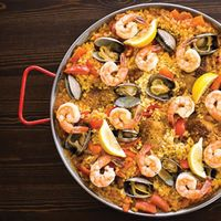 Recipe - Paella with Shrimp and Tomatoes