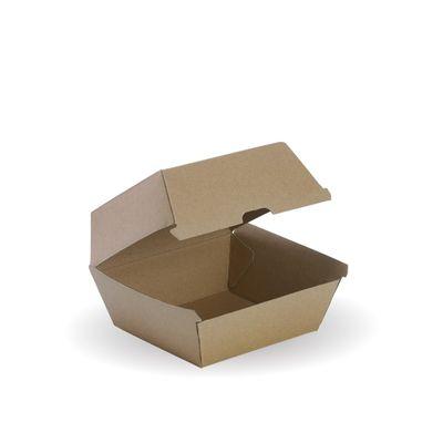 BURGER BOX BROWN, BIOBOARD 50PCES