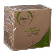 NAPKIN QUILTED BROWN GT, CAPRICE 100PK