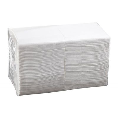 COCKTAIL NAPKIN QUILTED WHITE 1/4 FOLD