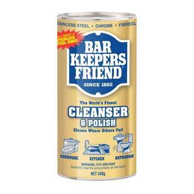 CLEAN & POLISH 340G, BAR KEEPERS FRIEND