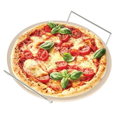 PIZZA STONE SET 2PCE ROUND, S&P