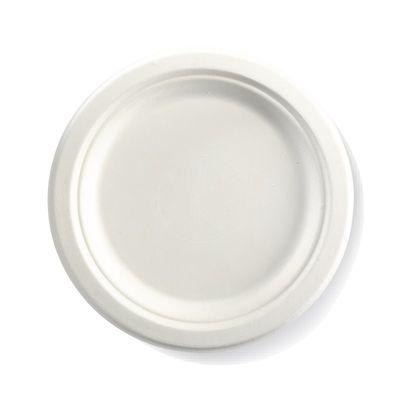 """ROUND PLATE WHITE 09"""", BIOPAK"""