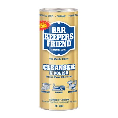 CLEAN & POLISH 595G, BAR KEEPERS FRIEND