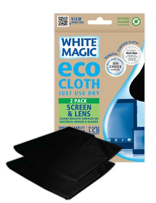 CLOTH SCREEN AND LENSE 2PK, WHITE MAGIC